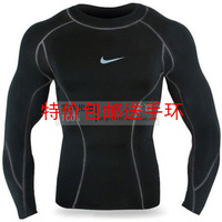 Pro basketball football sports tights long-sleeve key shaper high-elastic perspicuousness male Men's long-sleeved T-shirt