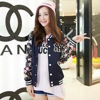 2014 autumn and winter lovers baseball uniform female outerwear baseball shirt sweatshirt cardigan