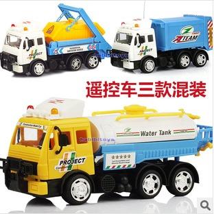 RC Oil tank truck garbage truck big truck wireless remote control toy car best boy birthday gift(China (Mainland))