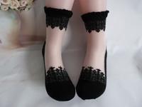 Free shipping High quality hot baroque classical ballet socks Ultra-thin black lace socks women crystal