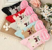 Cartoon bear rabbit wool thickening knee-high socks thermal socks rabbit wool socks