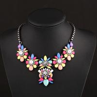 Fashion female luxury fashion gem antique silver short necklace vintage style