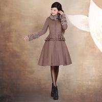 [LYNETTE'S CHINOISERIE - YHT ] Autumn Original Design Women Plus Size Vintage Faux Twinset Woolen Overcoat Sz S M L XL XXL XXXL