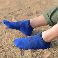 2014 stripe sock slippers men's socks shallow mouth invisible socks 100% cotton socks summer thin