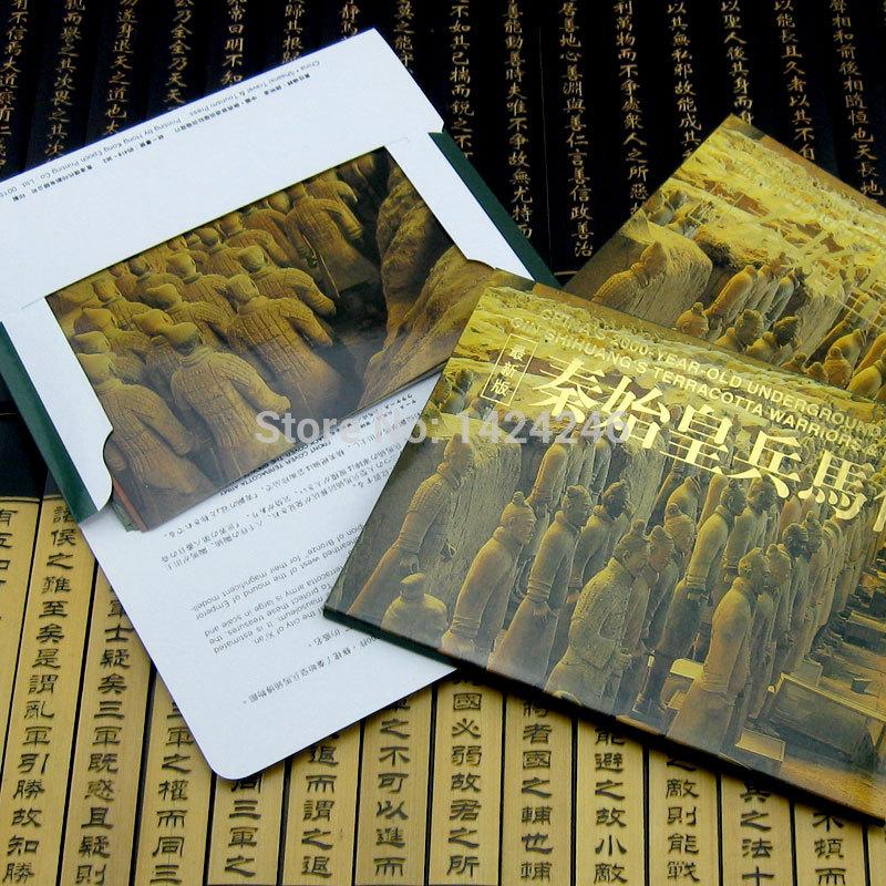 2014 China greeting post card qin dynasty terracotta warriors and horses small gift souvenir(China (Mainland))