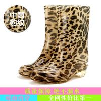 Thermal waterproof shoes rain boot autumn boots fashion knee-high rainboots shoe women's water shoes rain boots female rainboot