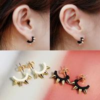 Fashion accessories ring cool punk rivet the trend stud earring earrings female b085
