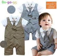 Infant Wear Baby Boys Tuxedo Romper Suit Wedding Baby Grow With Tie