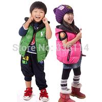 Gxf children's male child clothing 2014 female child down vest big boy vest autumn and winter baby liner