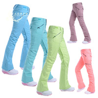 Free shipping women's winter outdoor sports skiing waterproof windproof brand thermal thickening single trousers pants