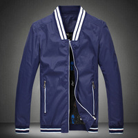 2014 New Arrival Men's US Style Autumn Wear stand collar Jacket Male Casual Slim Fit Fashion Jacket Free Shipping #8819 M- 5XL