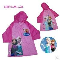 frozen child raincoat big boy girl  raincoat  size: S,M,L,XL