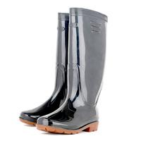 Man Slip-resistant black water shoes rain rubber mens boots men high rainboots overstrung rubber shoe waterproof rainboot boot