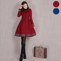 [LYNETTE'S CHINOISERIE - YHT ] Autumn Winter Women Plus Size Elegant Vintage Cute Woolen Overcoat Outerwear Sz S M L XL XXL XXXL