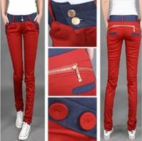 Women's Clothing Female Fashion Casual Cotton Trousers Slim Pantalones Mujer Calca Feminina Low Waist Harem Women Pants