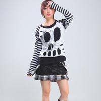 Glp 2014 spring and autumn hip-hop hiphop punk loose medium-long letter female long-sleeve t-shirt 71300