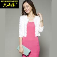 Autumn design short coat shrug all-match cape short jacket long-sleeve cardigan thin