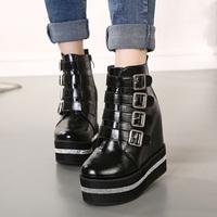 Free shipping  Female rhinestone platform buckle platform  women's   casual shoes women boots