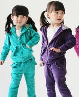 Autumn 2014 new female child' suits,Children's sports suit