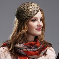 2014 Super Fashion Vintage Small Fedoras Banquet beret Hat & Cap  Autumn and Winter England Fashion Cap
