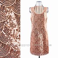 потрясающие Великий Гэтсби 1920-х годов элегантный заслонки Чарльстон партии деко блесток платье