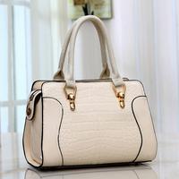 2014 for Crocodile portable women's handbag fashion sweet gentlewomen small fresh japanned leather bag messenger bag