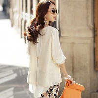 2014 fashion women loose beautiful sweater coat O-Neck long-sleeved Pullover sweaters