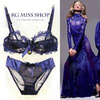 French women bra set sexy transparent lace bra sexy lingerie large size bra brief set lace bralette victoria underwear