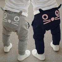 2014 autumn and winter boys girls clothing child fleece long trousers harem pants az-108093