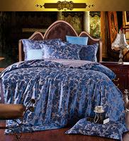 Piece set fashion piece bedding set wedding bedding tencel jacquard satin four piece set
