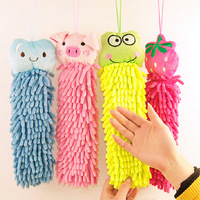 free shipping Lovely Cartoon Hanging Chads Hand Towel Many Designs Chenille Hanging Chads Bath Towel Dry