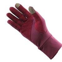 Lovers spring and autumn fleece outside sport looply gloves thin slip-resistant ride gloves