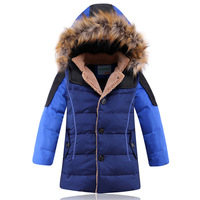 2014 child down coat boy child down coat thickening children's clothing large fur collar down coat boy child winter outwear