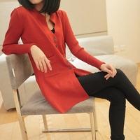 2014 set slim cardigan outerwear female basic shirt sweater cardigan