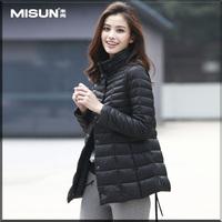 2014 Autumn and Winter women's fashion thin slim medium-long down coat outerwear Free shipping