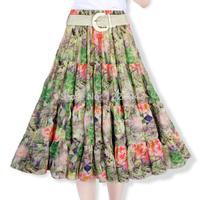 9656 2014 summer fairy  full chiffon bohemia half-skirt female bust