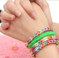 E5113 multicolour diy male women's honey personality lovers bracelet hair rope bracelet rubber band