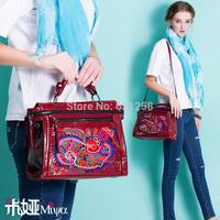 Free Shipping! Embroidery banquet bag ,shoulder bag, messenger bag faux leather PU bag handbag red