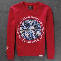Diamond men's clothing sweatshirt male hiphop o-neck long-sleeve pullover sweatshirts hiphop plus size
