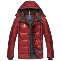 2014 winter new men's jacket male MAX genuine and long sections thicker outdoor men ski suit jacket