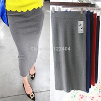 Autumn new arrival 2014 all-match elegant bag skirt slim hip skirt knitted yarn midguts bust skirt