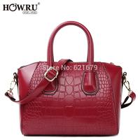 2014 fashion for Crocodile portable one shoulder cross-body women's handbag