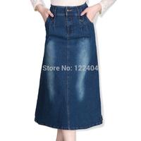 8979 2014 autumn full denim skirt denim skirt hip slim vintage half-skirt female bust skirt