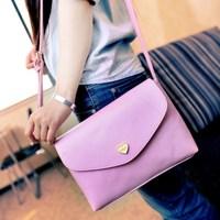 2014 new candy-colored retro peach heart handbag shoulder messenger bag
