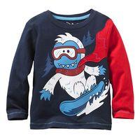 blue spring and autumn boy 100% cotton long-sleeve T-shirt boy basic shirt top 6pcs/Lot Free shipping
