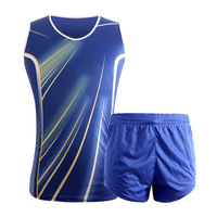 new quality goods track suits Men's and women's clothing section of track and field training Vest shorts running clothing colors