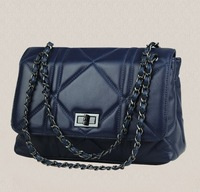 Fashion 2014 women's fashion sheepskin handbag genuine leather women's messenger bag chain handbag