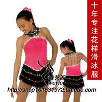 child skating skirt  for Performance   skating skirt   with diamond  for race beatiful skating skirt