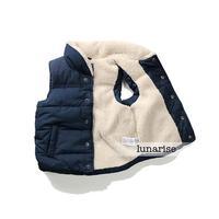 2014 new dark blue warm vests kids children's clothing kids cotton vest baby thickening vest boy's winter wool waistcoat