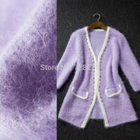 2014 Sweater Women's Medium-long Trench Handmade beading cardigan Collarless Wrist-length Sleeve female Outerwear